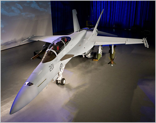 Primer FA-18F Super Hornet para Australia