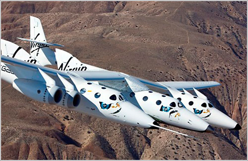 SS2 y WK2 en vuelo - Mark Greenberg / Virgin Galactic