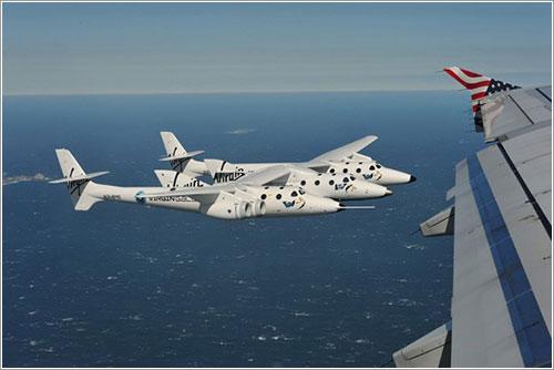 SpaceShipTwo desde un A320