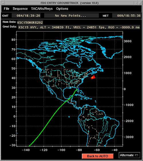 Trayectoria del aterrizaje - NASA
