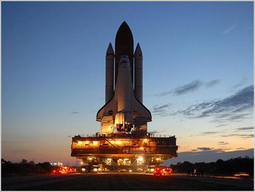 STS119 rumbo a la plataforma de lanzamiento - NASA/Troy Cryder