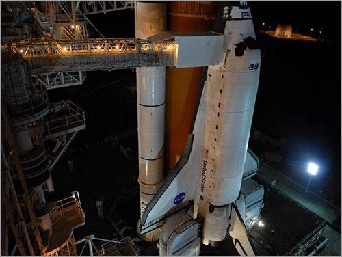 Discovery en la plataforma - NASA