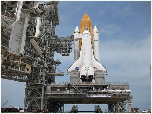 Atlantis en la plataforma de lanzamiento