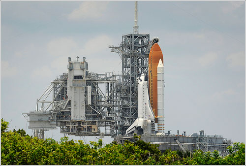 Endeavour en la plataforma 39A - NASA/Bill Ingals