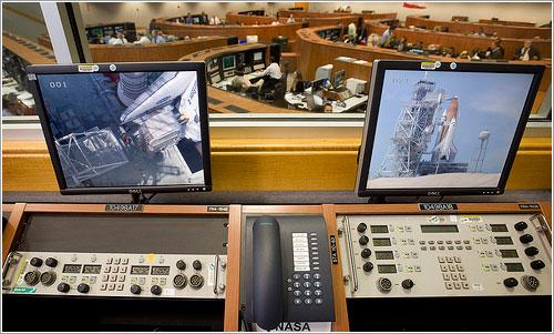 Sala de control del lanzamiento - NASA/Bill Ingalls