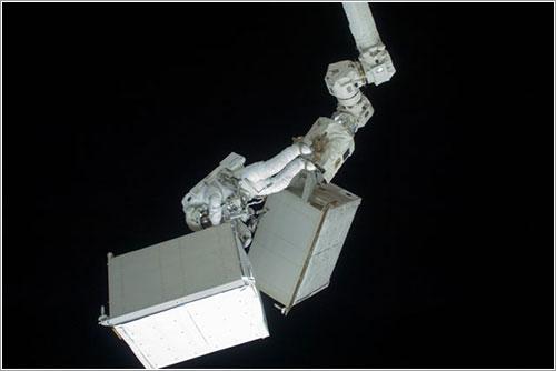 Christer Fuglesang durante el paseo espacial - NASA