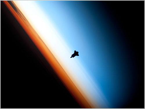 Shuttle Silhouette - NASA