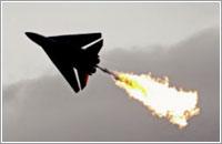 Un F-11 australiano haciendo la bola de fuego