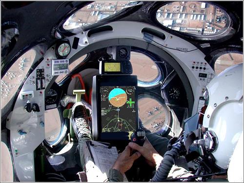 Cockpit de la Spaceship One