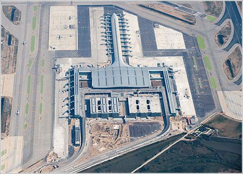 Vista aérea de la nueva terminal