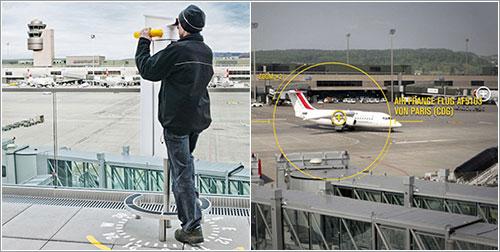 Observation Deck B en el aeropuerto de Zurich