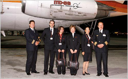 La tripulación de este último vuelo