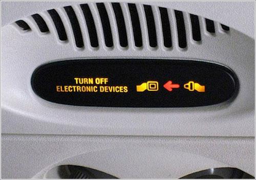 Apaguen sus dispositivos electrónicos