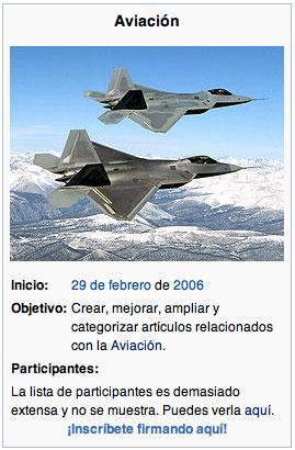 Wikiproyecto Aviación