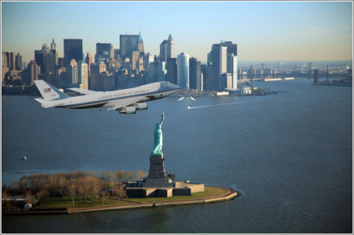 Air Force One y la Estatua de la Libertad por Scott Kelby