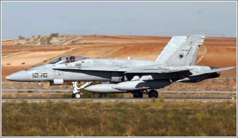 Las aeronaves militares tienen un seguro para los daños que puedan causar en tierra