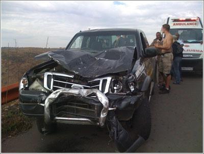Estado en el que quedó el coche / Foto: Craig Rodney
