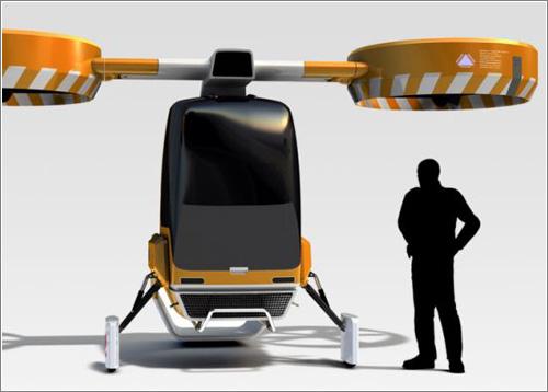 El helicóptero plegable Hummel
