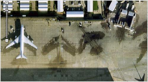 Limpieza de aviones en Google Maps