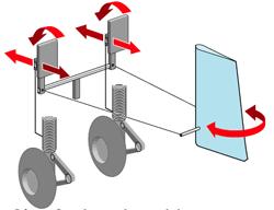 Según como se presione sobre los pedales, actúan como freno o mueven el timón