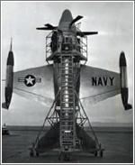 El despegue vertical tipo cohete se abandonó por la pérdida de capacidad que suponía para el avión
