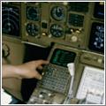 La navegación oceánica se realiza volando de unas coordenadas geográficas a otras