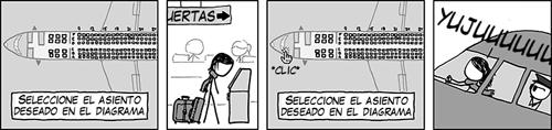 Selección de asiento en XKCD
