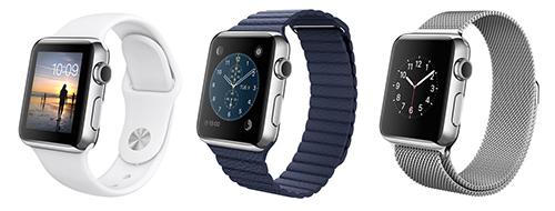 Diversos modelos de Apple Watch