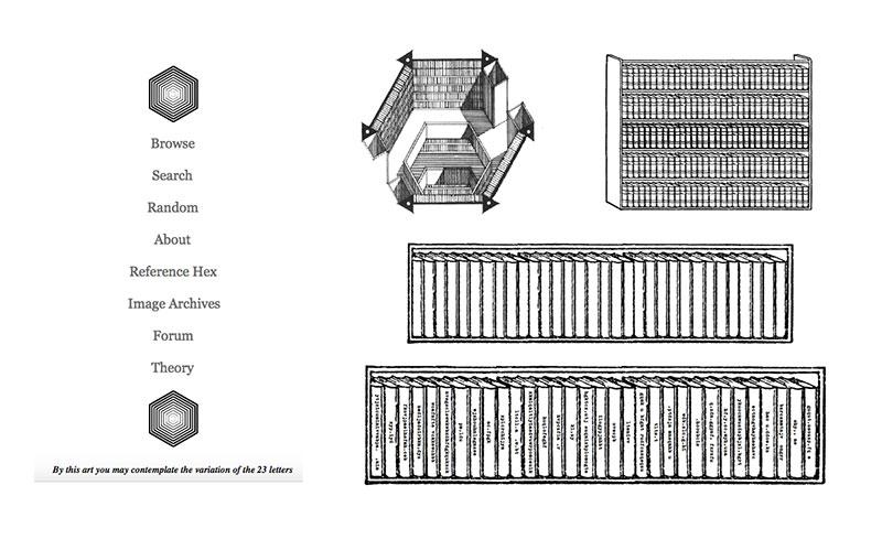 La biblioteca de Babel de Borges, versión Internet