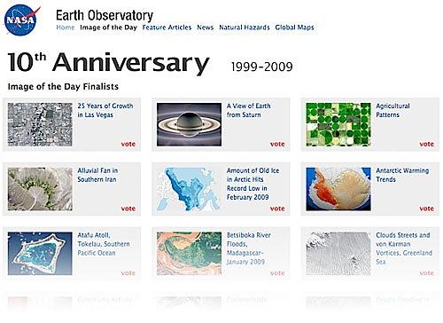 10 años del Earth Observatory