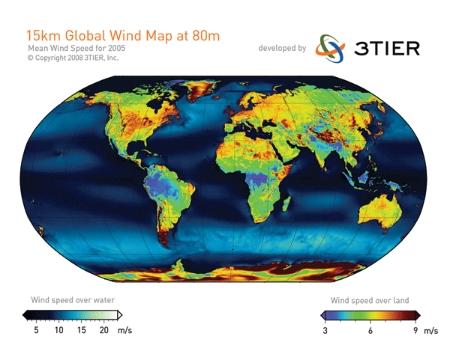 Mapa global vientos