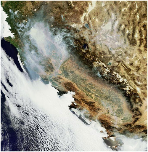 Earth from Space: California ablaze - ESA