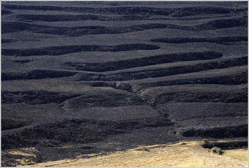 Campos quemados en Ejulve, Teruel - PIERRE-PHILIPPE MARCOU/AFP/Getty Images