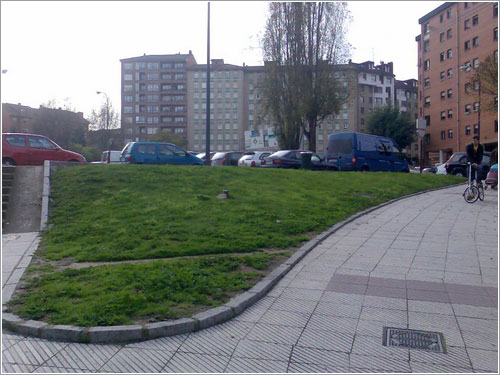 Guerrilla gardening en Oviedo - Antes