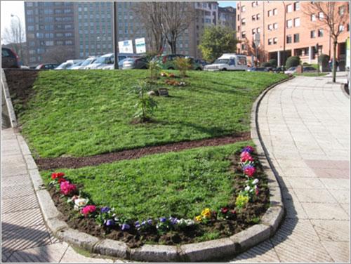 Guerrilla gardening en Oviedo - El resultado