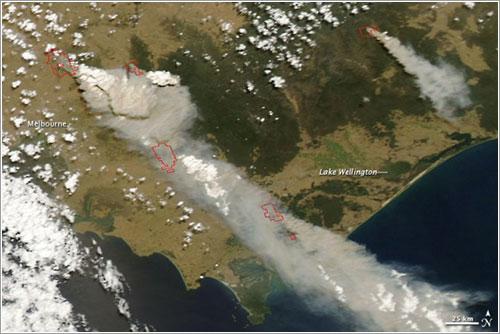 Incendios vistos desde el espacio - NASA