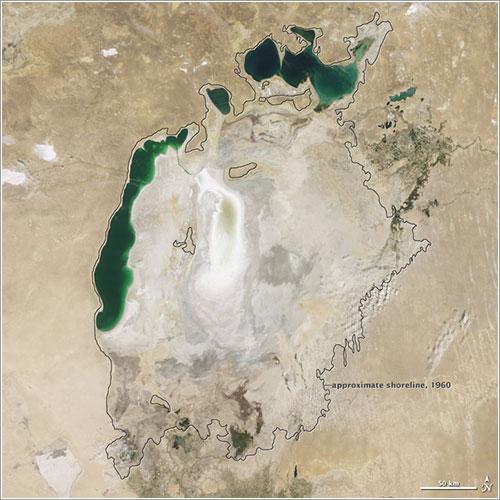 Mar de Aral en 2009 - NASA