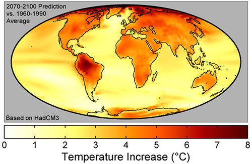 Predicciones calentamiento global - Robert A. Rohde, Global Warming Art