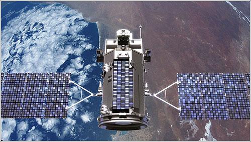 Impresión artística del satélite en acción - NASA/GSFC
