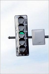Semáforo LED por la policía de Oswego