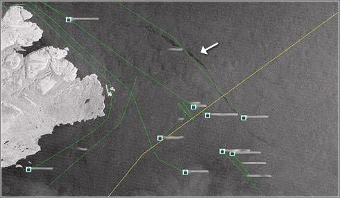 Detector vertidos desde buques