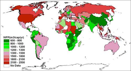 WFP: Consumo de Agua por Paises