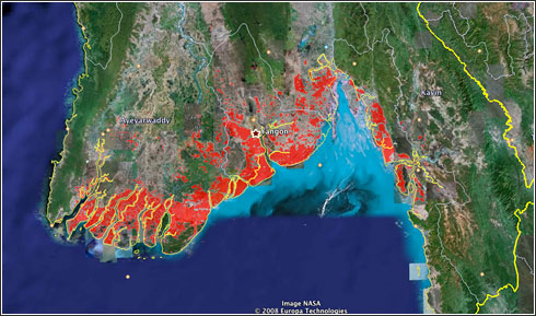Birmania Google Maps