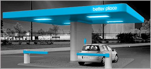 Estación de cambio de baterías de Better Place