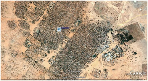 Campo de refugiados en Google Earth