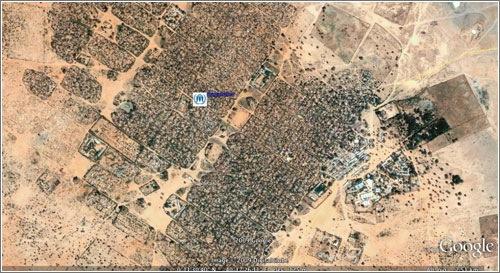 Campo de refugiados en Google Earth