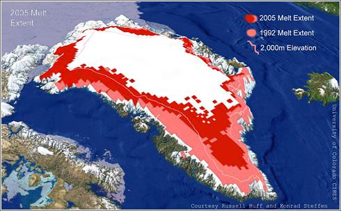 Deshielo Groenlandia 2005