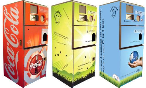 Envirobank: las máquinas de reciclaje con incentivos