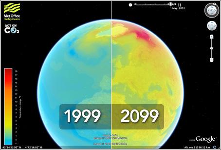 Evolución temperaturas según modelo actual