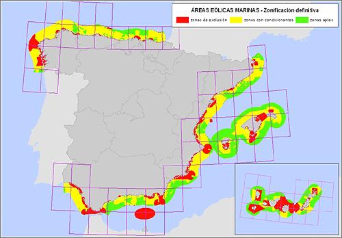 Acota las zonas de instalación de parques eólicos marinos